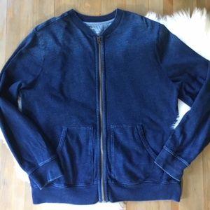 GAP INDIGO Men's Zip Front Cardigan Jacket XXL EUC
